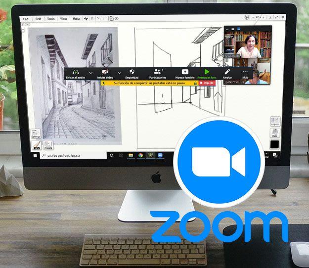 clases virtuales de arte, clases de dibujo y pintura, clases online en vivo por zoom